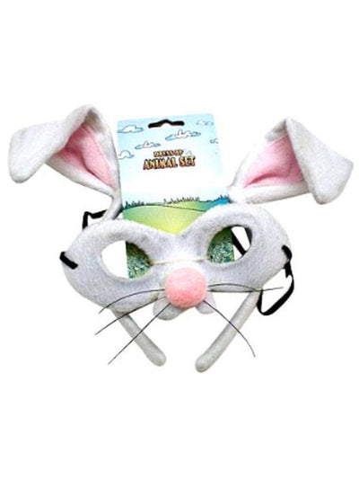 Animal Headband & Mask Set - Rabbit-Masks - Animal-Jokers Costume Hire and Sales Mega Store
