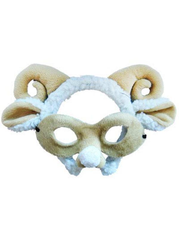 Animal Headband & Mask Set - Ram/Sheep-Masks - Animal-Jokers Costume Hire and Sales Mega Store