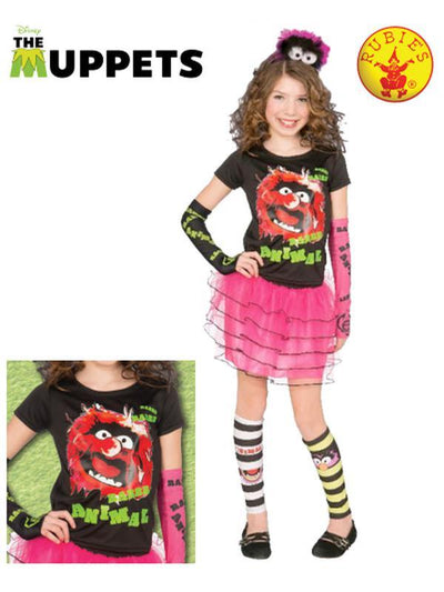 ANIMAL T-SHIRT-Costumes - Girls-Jokers Costume Hire and Sales Mega Store