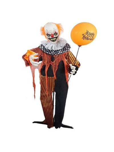 Animated Clown w/ Balloon-Halloween Props and Decorations-Jokers Costume Hire and Sales Mega Store