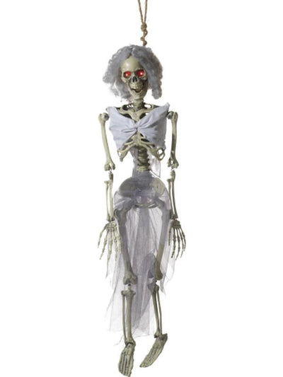 Animated Hanging Bride Skeleton Decoration-Halloween Props and Decorations-Jokers Costume Hire and Sales Mega Store
