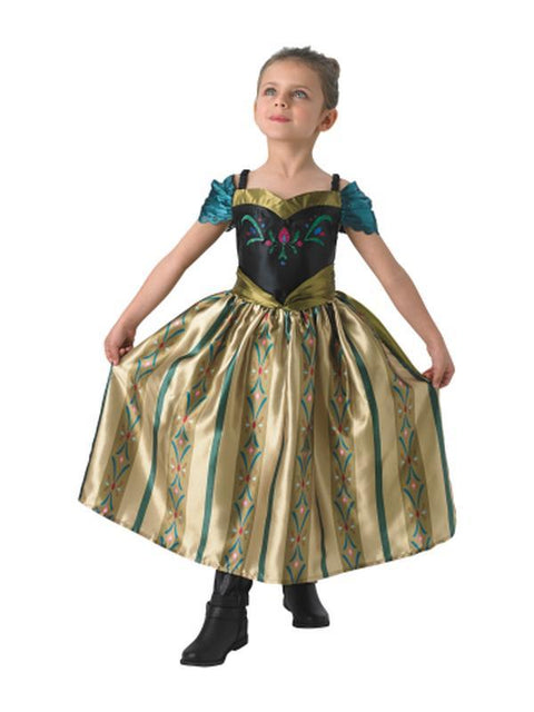 Anna Coronation Deluxe Costume - Size 6-8.-Costumes - Girls-Jokers Costume Hire and Sales Mega Store