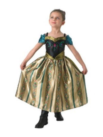 Anna Coronation Deluxe Costume - Size 6-8-Costumes - Girls-Jokers Costume Hire and Sales Mega Store