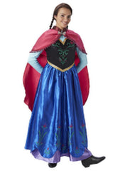 Anna Deluxe Adult Costume - Size M-Jokers Costume Mega Store