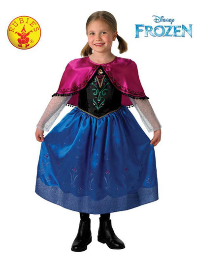 ANNA DELUXE COSTUME - SIZE 6-8-Costumes - Girls-Jokers Costume Hire and Sales Mega Store