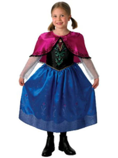 Anna Deluxe Frozen - Size 6-8-Costumes - Girls-Jokers Costume Hire and Sales Mega Store