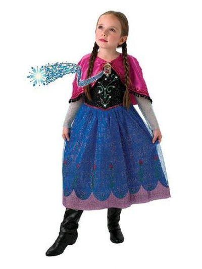 Anna Frozen Musical Light Up - Size 4-6-Costumes - Girls-Jokers Costume Hire and Sales Mega Store
