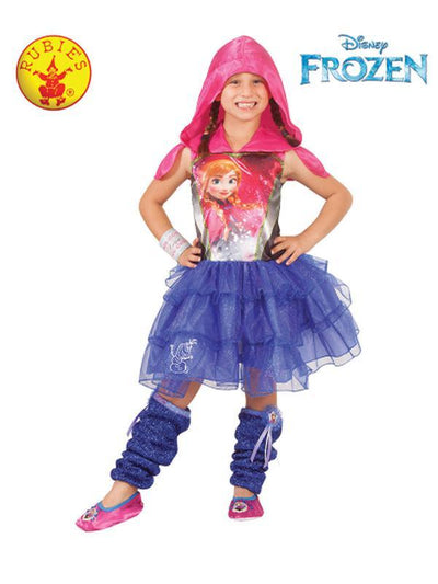 ANNA HOODED DRESS - SIZE 6-8-Costumes - Girls-Jokers Costume Hire and Sales Mega Store