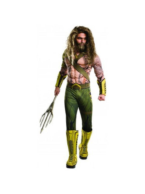 Aquaman Adult Deluxe - Size Xl-Costumes - Mens-Jokers Costume Hire and Sales Mega Store