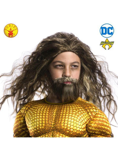 AQUAMAN BEARD & WIG SET, CHILD-Wigs-Jokers Costume Hire and Sales Mega Store
