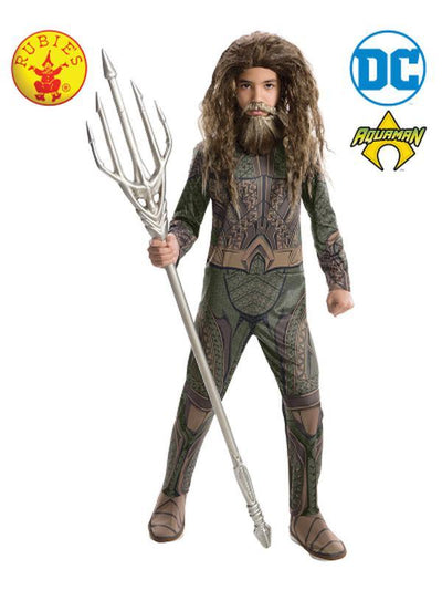 AQUAMAN CLASSIC COSTUME - SIZE S-Costumes - Boys-Jokers Costume Hire and Sales Mega Store