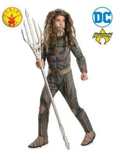 Aquaman Deluxe Child Costume - Size L-Costumes - Boys-Jokers Costume Hire and Sales Mega Store
