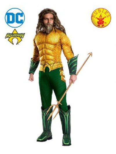 AQUAMAN DELUXE COSTUME-Costumes - Mens-Jokers Costume Hire and Sales Mega Store