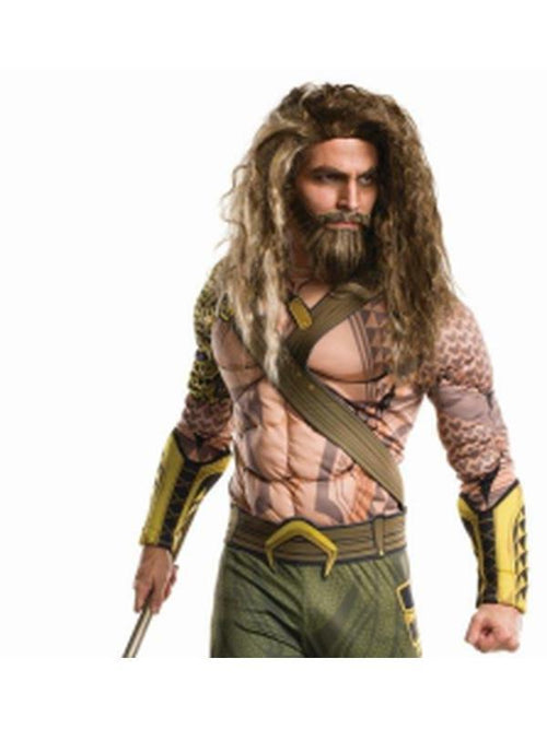 Aquaman Wig And Beard Adult-Beards and Moustaches-Jokers Costume Hire and Sales Mega Store