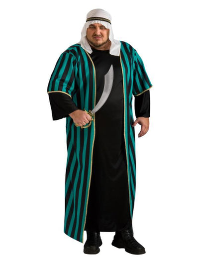 ARAB SHEIK COSTUME - SIZE PLUS-Costumes - Mens-Jokers Costume Hire and Sales Mega Store
