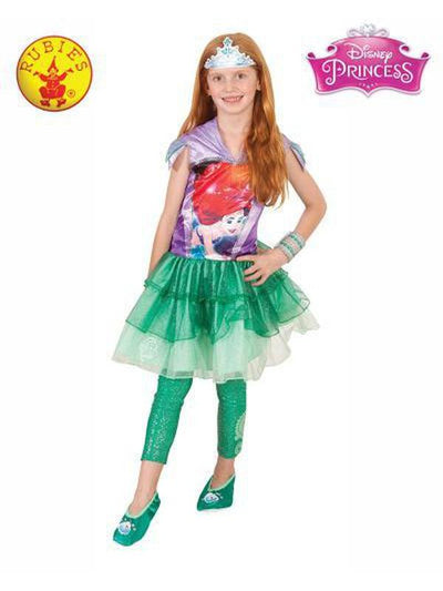 ARIEL HOODED DRESS - SIZE 6-8-Costumes - Girls-Jokers Costume Hire and Sales Mega Store