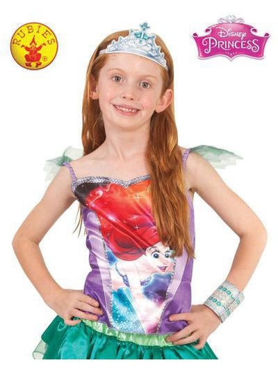 ARIEL PRINCESS TOP 6+-Costumes - Girls-Jokers Costume Hire and Sales Mega Store