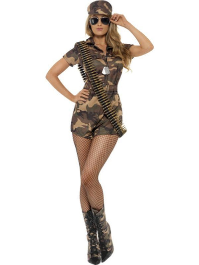 Army Girl Sexy Costume-Costumes - Women-Jokers Costume Hire and Sales Mega Store