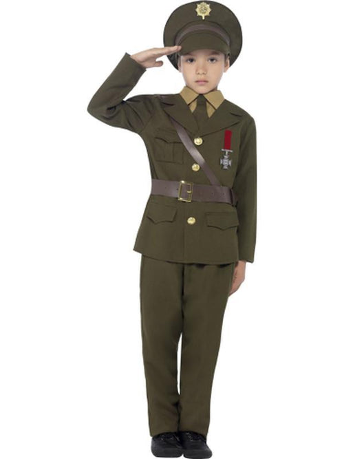 Army Officer Costume-Costumes - Boys-Jokers Costume Hire and Sales Mega Store