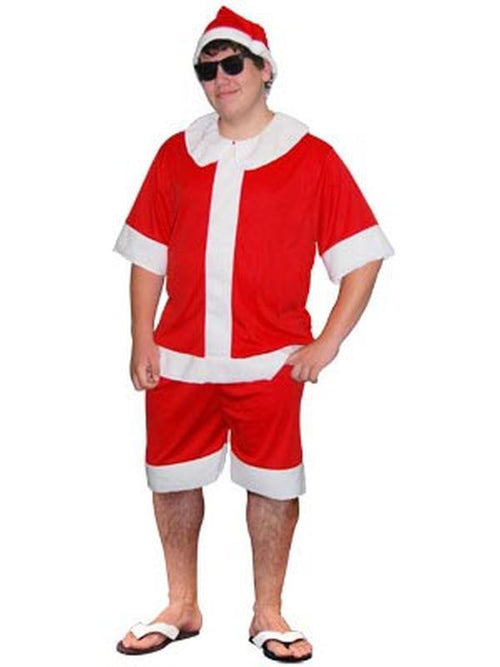 Aussie Summer Santa - Adult - Medium-Costumes - Mens-Jokers Costume Hire and Sales Mega Store