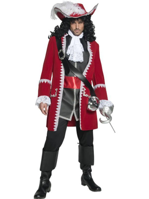 Authentic Pirate Captain Costume-Costumes - Mens-Jokers Costume Hire and Sales Mega Store