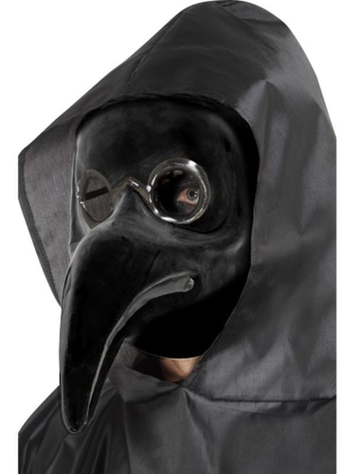 Authentic Plague Doctor Mask, Black-Masks - Halloween-Jokers Costume Hire and Sales Mega Store