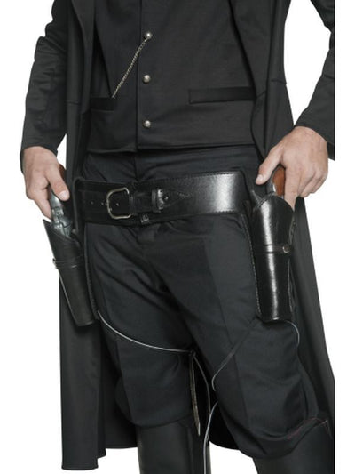 Authentic Western 2 Holsters and Belt-Weapons-Jokers Costume Hire and Sales Mega Store
