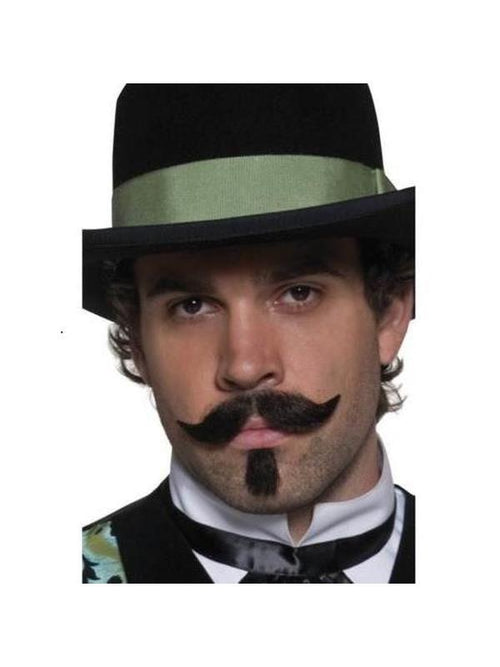 Authentic Western Gambler Moustache-Beards and Moustaches-Jokers Costume Hire and Sales Mega Store
