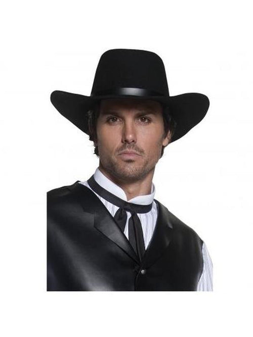 Authentic Western Gunslinger Hat-Hats and Headwear-Jokers Costume Hire and Sales Mega Store
