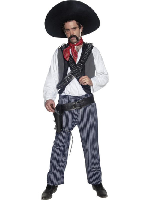 Authentic Western Mexican Bandit Costume-Costumes - Mens-Jokers Costume Hire and Sales Mega Store