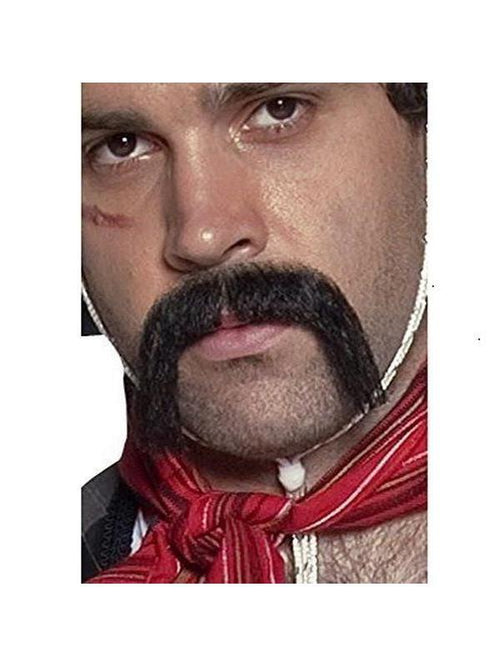 Authentic Western Mexican Handlebar Moustache-Beards and Moustaches-Jokers Costume Hire and Sales Mega Store