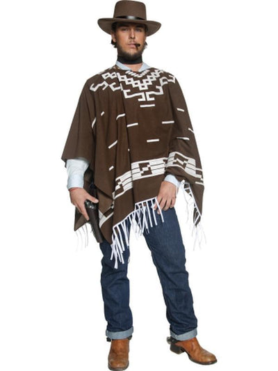 Authentic Western Wandering Gunman Costume-Costumes - Mens-Jokers Costume Hire and Sales Mega Store