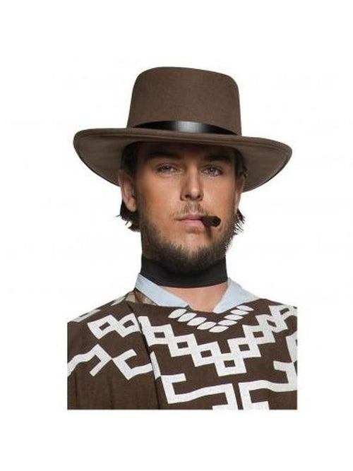 Authentic Western Wandering Gunman Hat-Hats and Headwear-Jokers Costume Hire and Sales Mega Store