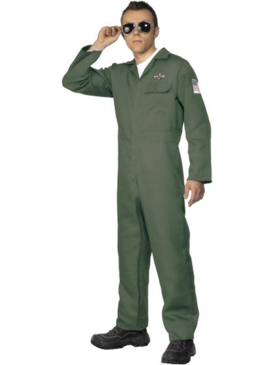 Aviator Costume, Green-Costumes - Mens-Jokers Costume Hire and Sales Mega Store