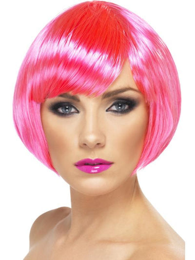 Babe Wig - Neon Pink-Wigs-Jokers Costume Hire and Sales Mega Store