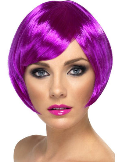 Babe Wig - Purple-Jokers Costume Mega Store