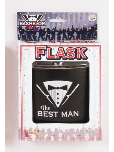 Bachelor Party Flask - Best Man-Costume Accessories-Jokers Costume Hire and Sales Mega Store