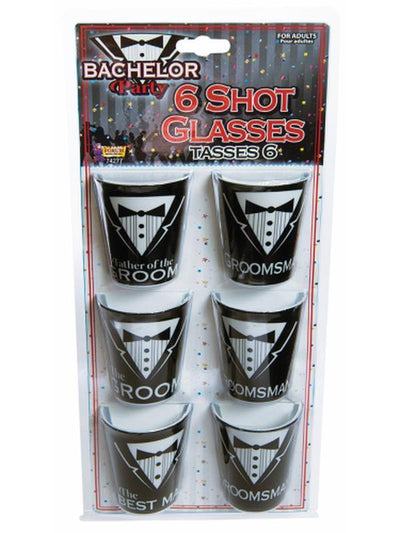 Bachelor Party Shot Glass Set-Costume Accessories-Jokers Costume Hire and Sales Mega Store