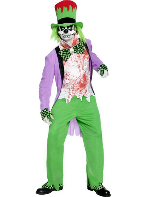 Bad Hatter Costume-Costumes - Mens-Jokers Costume Hire and Sales Mega Store