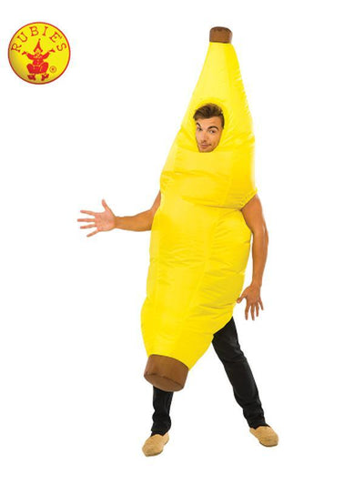 BANANA INFLATABLE COSTUME-Costumes - Mens-Jokers Costume Hire and Sales Mega Store