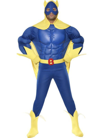 Bananaman Deluxe EVA Chest Costume-Costumes - Mens-Jokers Costume Hire and Sales Mega Store