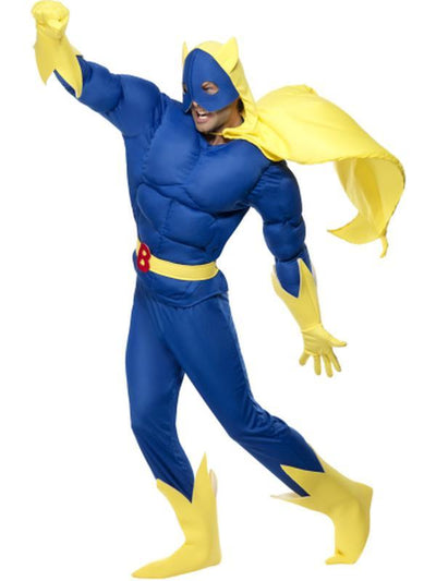 Bananaman Padded Costume-Costumes - Mens-Jokers Costume Hire and Sales Mega Store