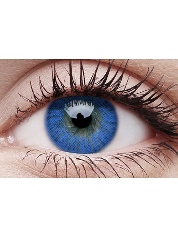 Basics Colour Contacts - Blue-Contact Lens - Crazy Lens 3 months-Jokers Costume Hire and Sales Mega Store