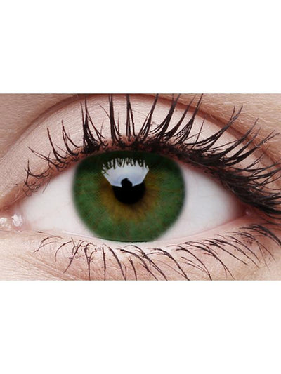 Basics Colour Contacts - Green-Contact Lens - Crazy Lens 3 months-Jokers Costume Hire and Sales Mega Store