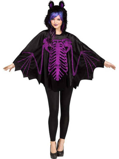 Bat Hooded Poncho-Costumes - Women-Jokers Costume Hire and Sales Mega Store