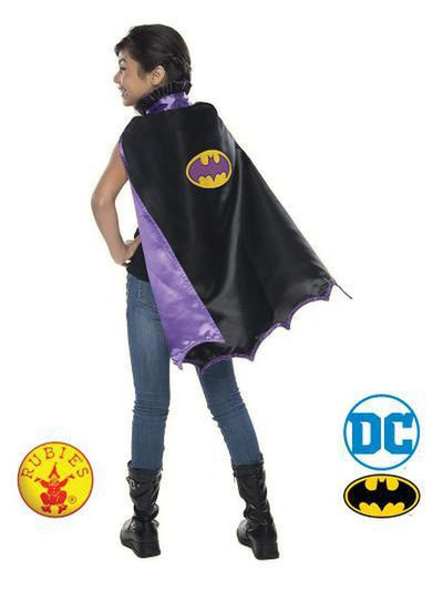 BATGIRL DC CAPE CHILD-Costume Accessories-Jokers Costume Hire and Sales Mega Store