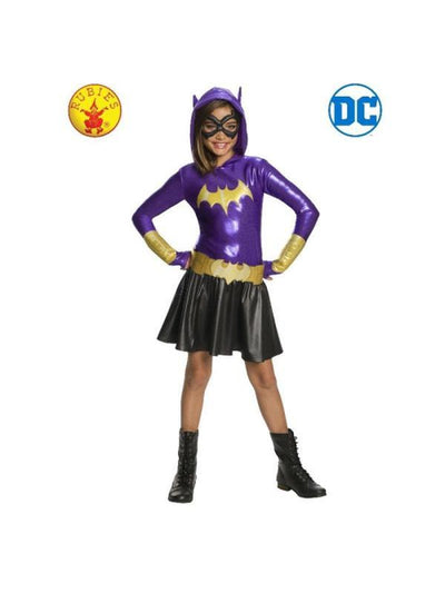 BATGIRL DCSHG HOODIE COSTUME, CHILD-Costumes - Girls-Jokers Costume Hire and Sales Mega Store