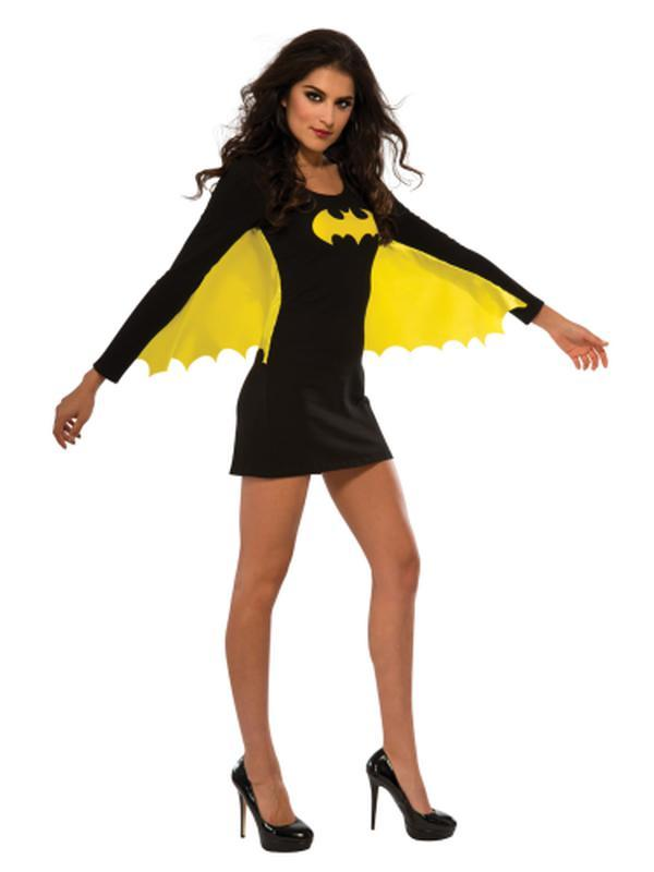 Batgirl Dress With Wings - Size L-Costumes - Women-Jokers Costume Hire and Sales Mega Store