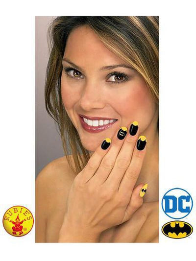 BATGIRL NAIL DECAL KIT-Make up and Special FX-Jokers Costume Hire and Sales Mega Store