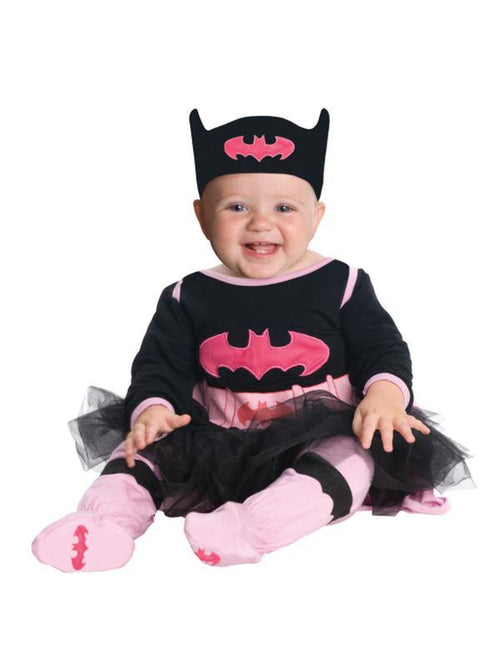 Batgirl Onesie With Skirt - Size 6-12 Months-Costumes - Girls-Jokers Costume Hire and Sales Mega Store
